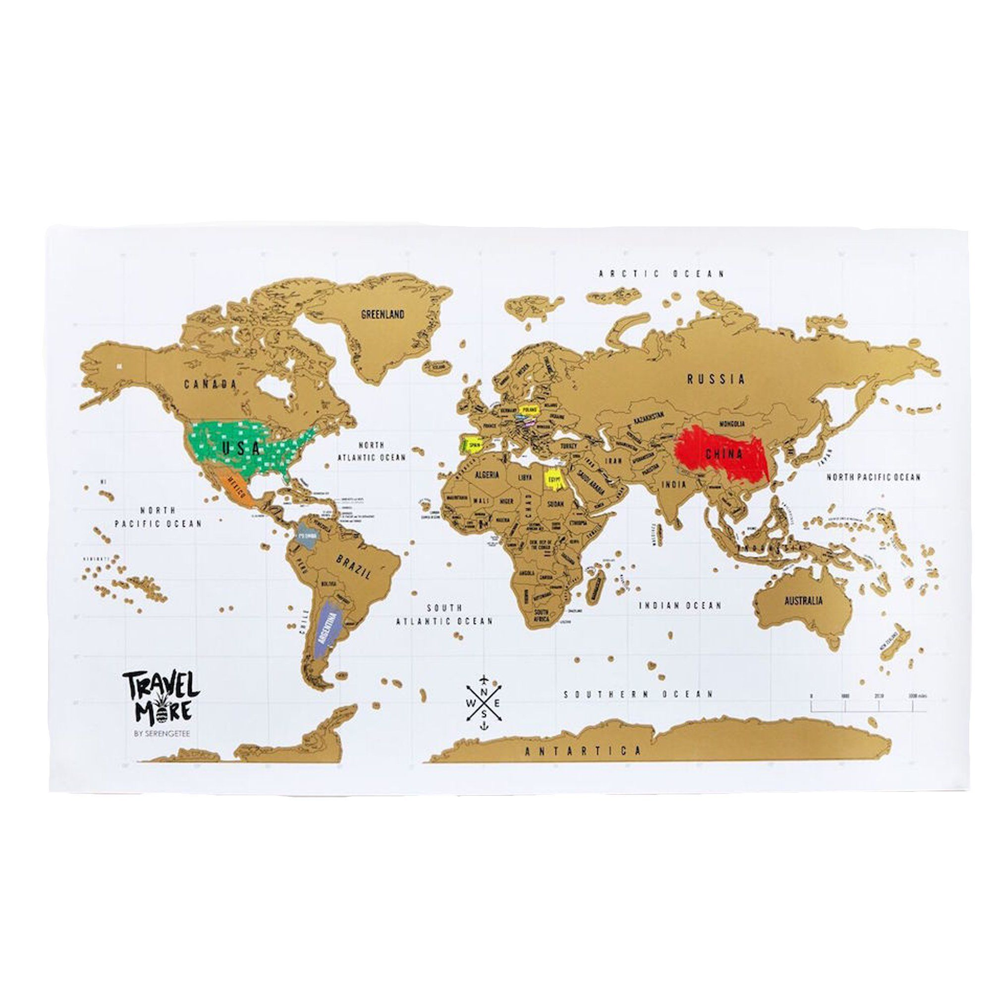 Seren ee World Scratch Map Products Pinterest