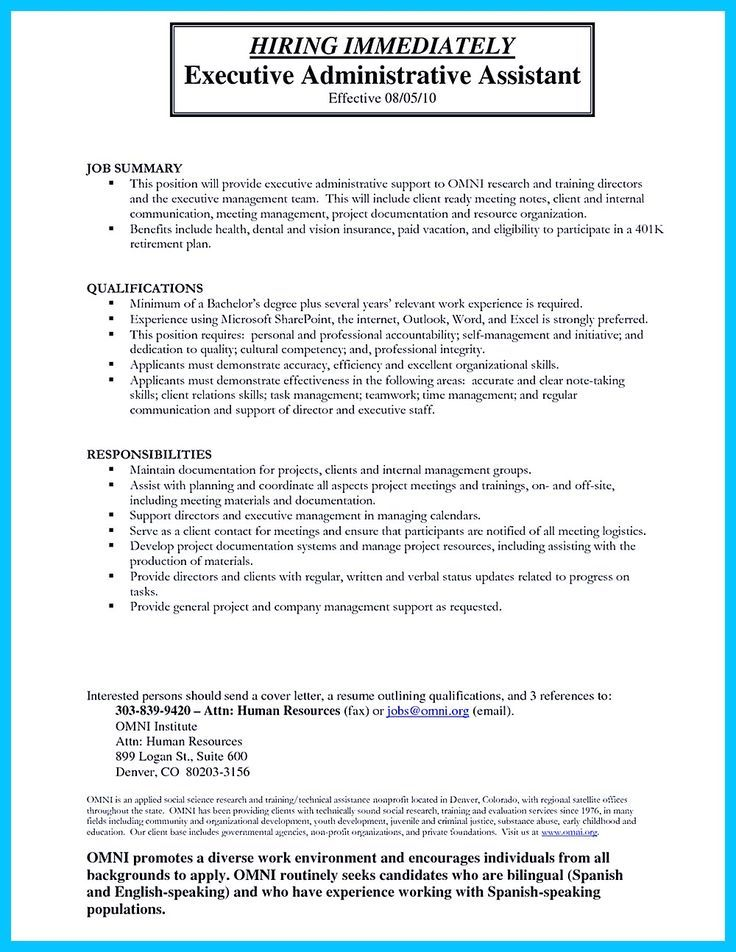 High Quality Entry Level Administrative Assistant Resume Samples Administrative Assistant Resume Executive Assistant Jobs Executive Administrative Assistant