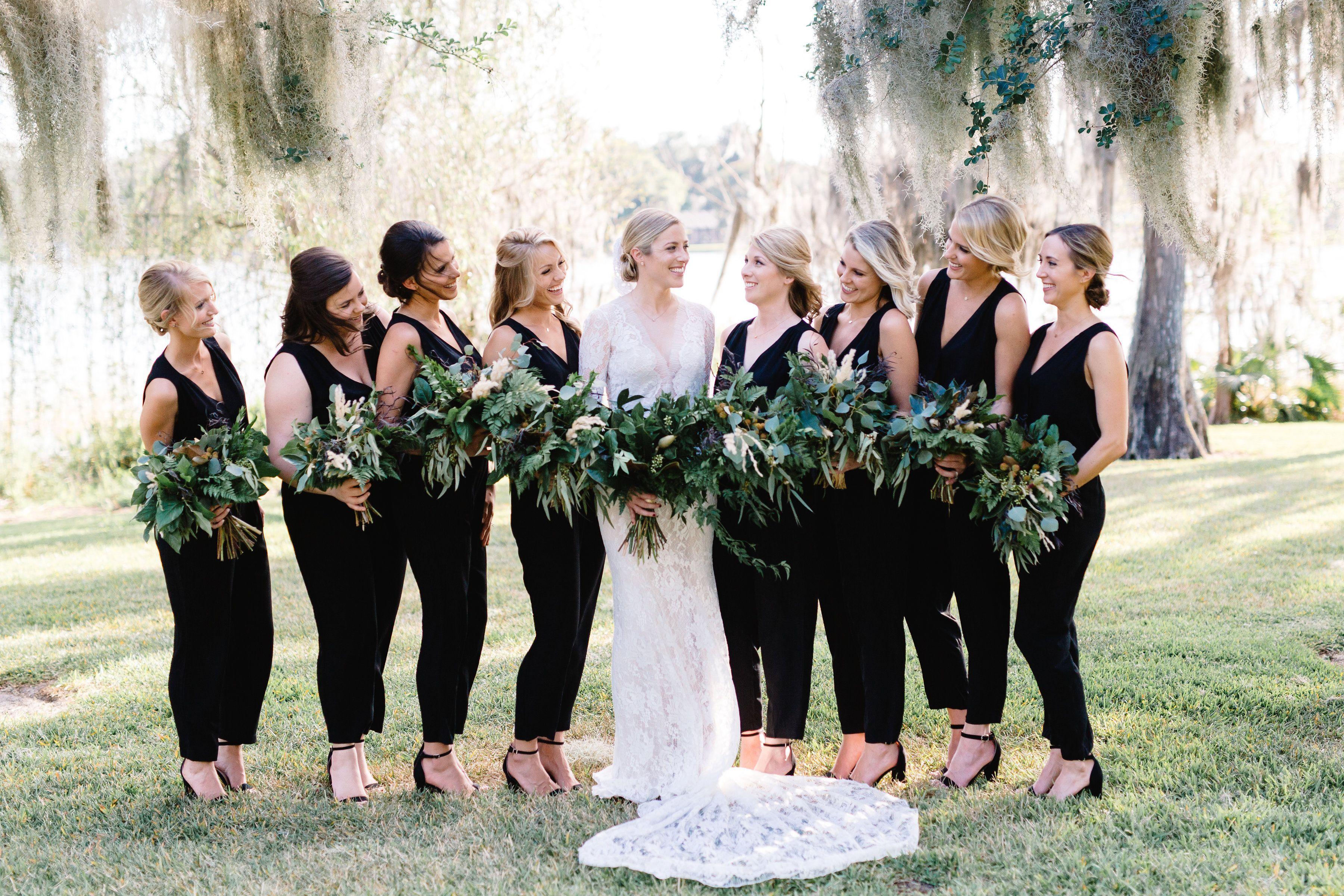 Black Wedding Pantsuit