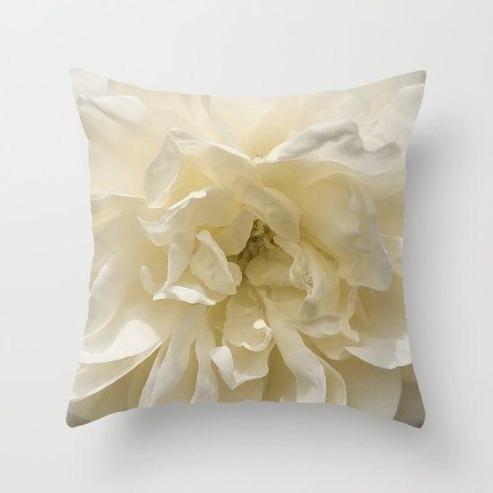 White Rose Beauty Throw Pillow