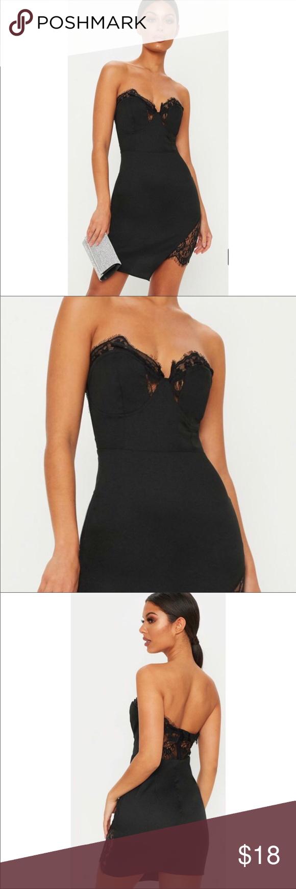 Black bodycon dress pretty little thing ad kim kardashian red