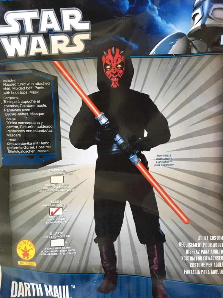 Star Wars Adult Deluxe Darth Maul Muscle Chest Costume And