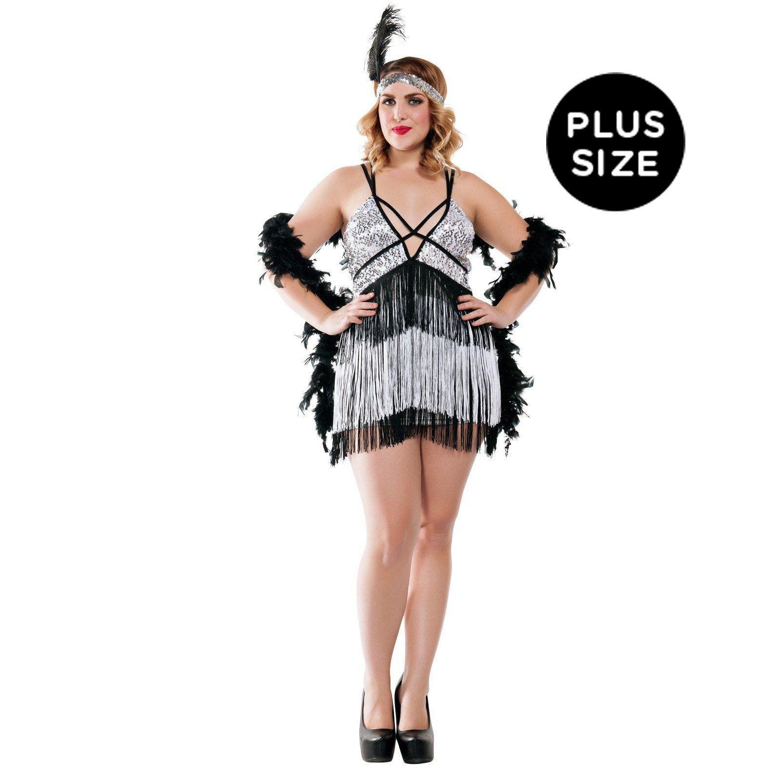Boardwalk Flapper Costume for Plus Size Women from