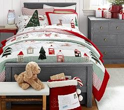 Holiday Bedding Amp Christmas Bedding Sets Pottery Barn Kids