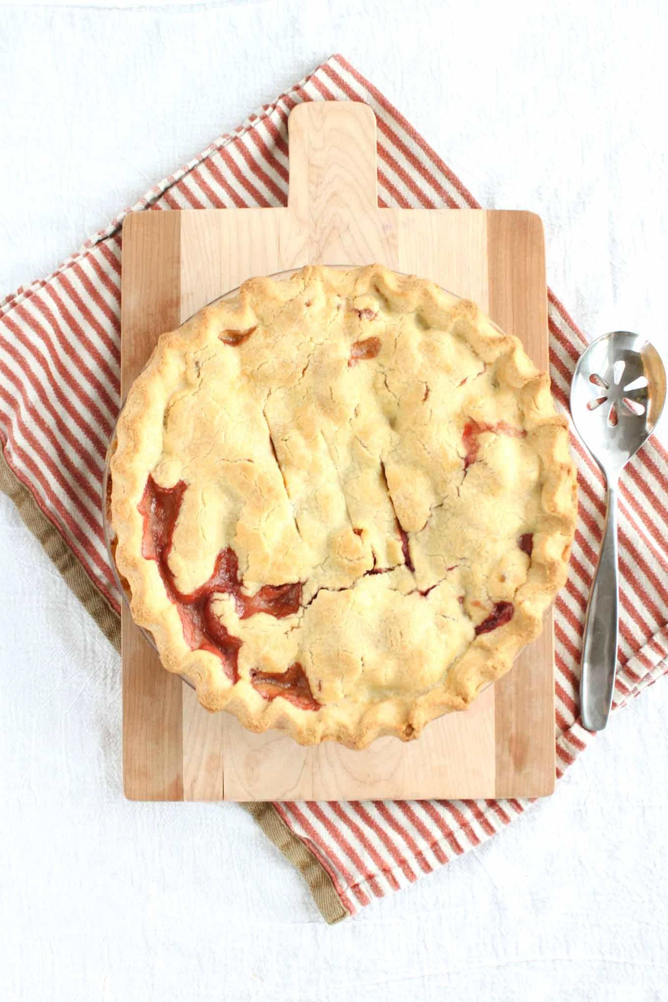 Raspberry Rhubarb Pie | Simple Roots Wellness
