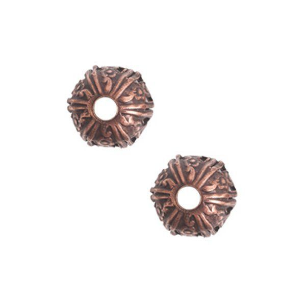 Nunn Design 10mm Crown Bead Cap - Antique Copper Plate