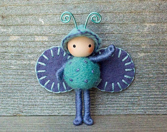 Hydrangea Bug Blue and Purple bendy doll toy | Felt crafts ...
