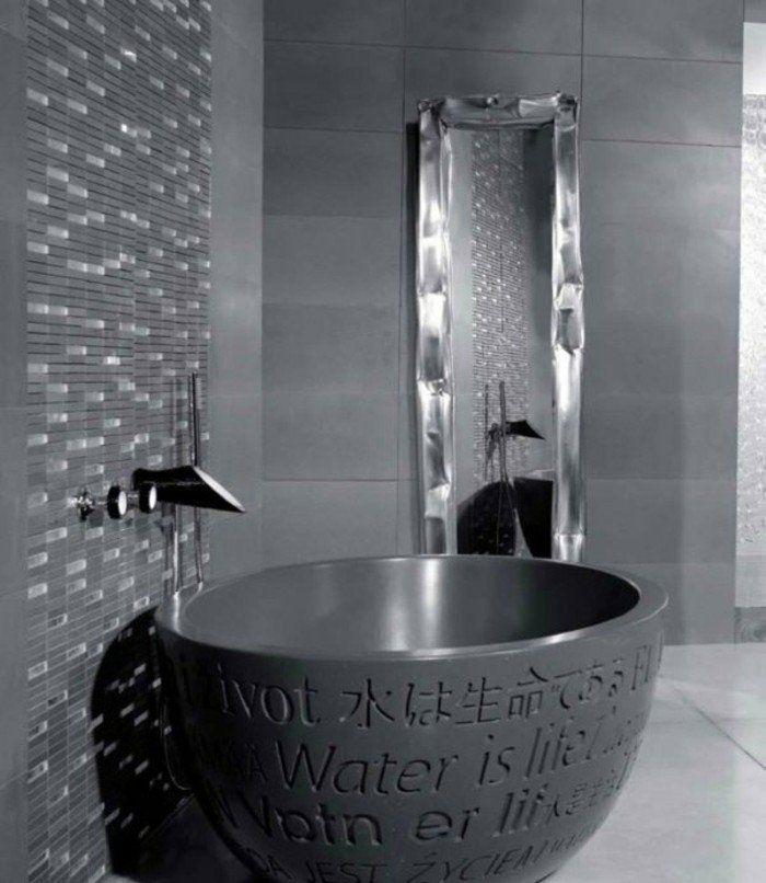 Comment aménager une salle de bain 4m2? | Baignoire ovale, Couleur ...