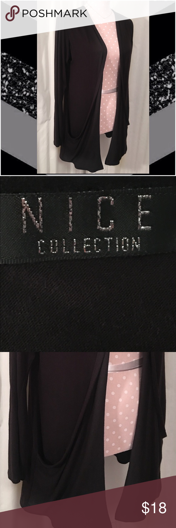 N•I•C•E Collection black lightweight sweater Cute sweater! 24/26 NICE Collection Jackets & Coats