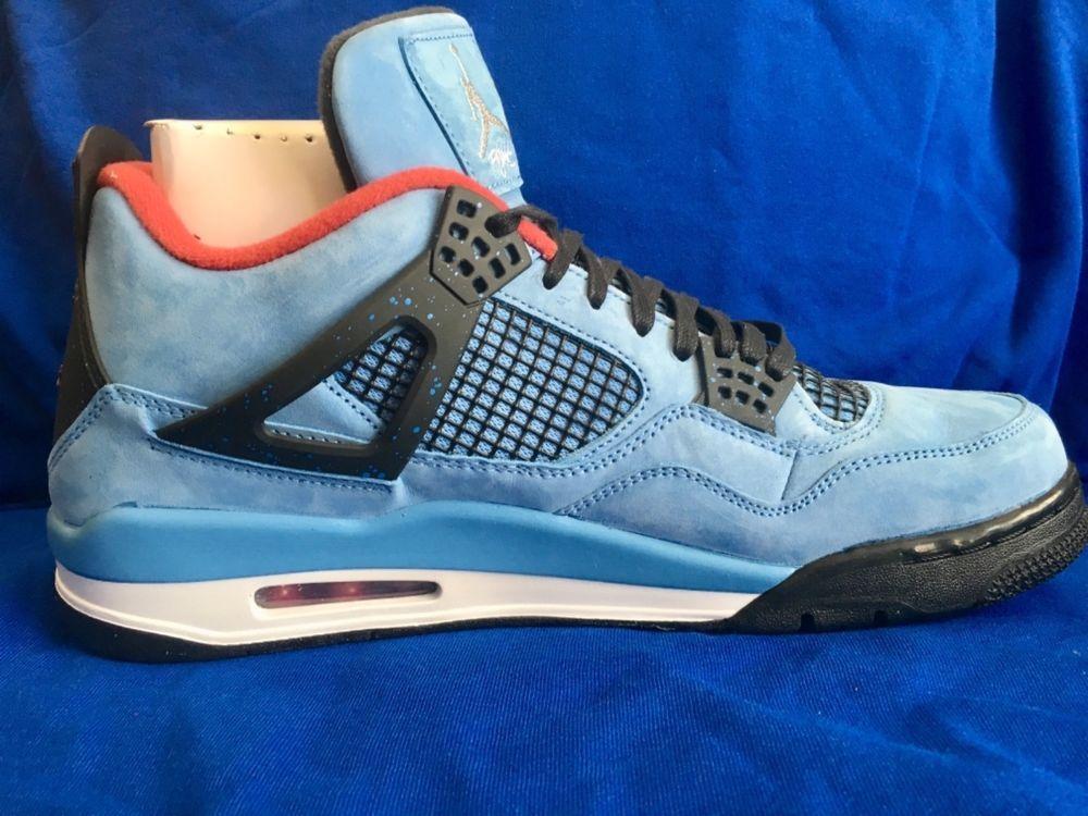 8aee3a2e688d60 ... travis scott cactus jack air jordan 4s size 13 university blue fashion  clothing shoes accessories me
