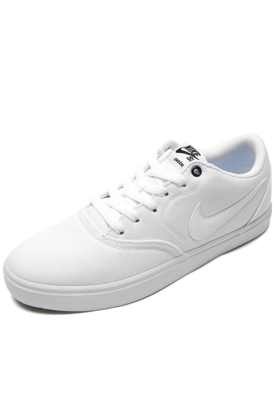 Tênis Nike SB Check Solar Canvas Branco - Marca Nike SB 912c0e160ab7a