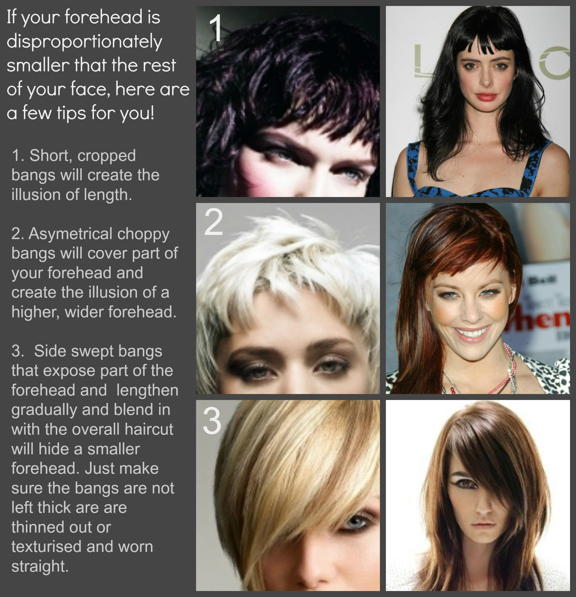 pin by tina woods on hair ideas | small forehead, hair cuts