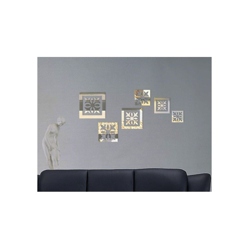 Stickers Miroir Motif, Autocollant Adhésif Miroir, Stickers De Salon  Design, Stickers Muraux :