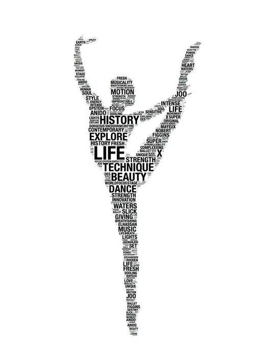 Beautiful dance graphic