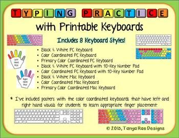 Typing Practice with Printable Keyboards | Shameless
