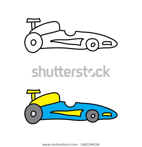 Cartoon Drawing Race Car Temaju Stockvektorkep Jogdijmentes 1462299134 Cartoon Drawings Cartoon Car Drawing Race Cars