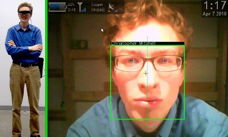 Augmented reality facial recognition