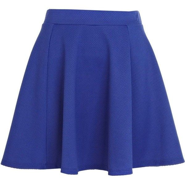 River Island Bright blue textured skater skirt ($13) ❤ liked on Polyvore featuring skirts, bottoms, faldas, saias, sale, royal blue circle skirt, blue circle skirt, skater skirt, blue skirt and bright blue skirt