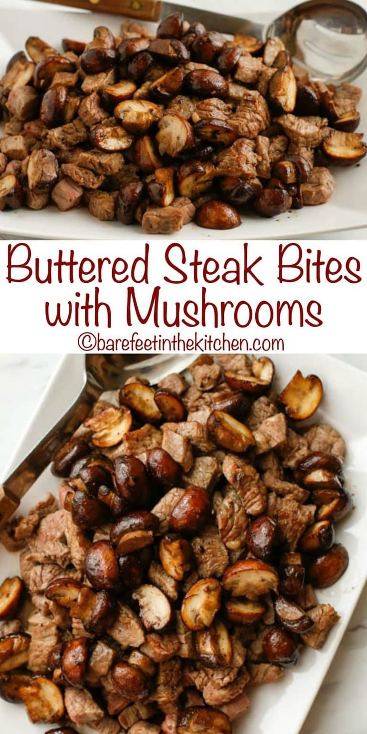Photo of Buttered Steak Bites with Mushrooms