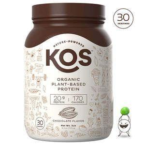 The 15 Best Vegan Protein Powders #chocolateproteinpowder KOS Organic Plant-Based Vegan Protein Powder