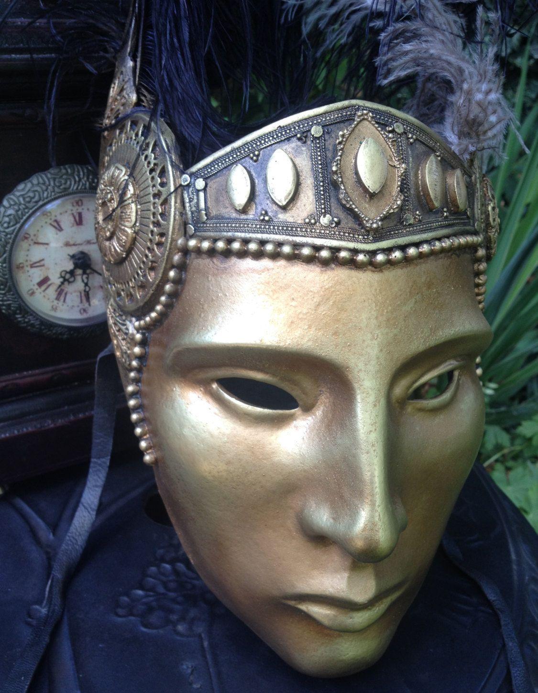 Gold Mask Masquerade Mask Halloween Mask Party Mask
