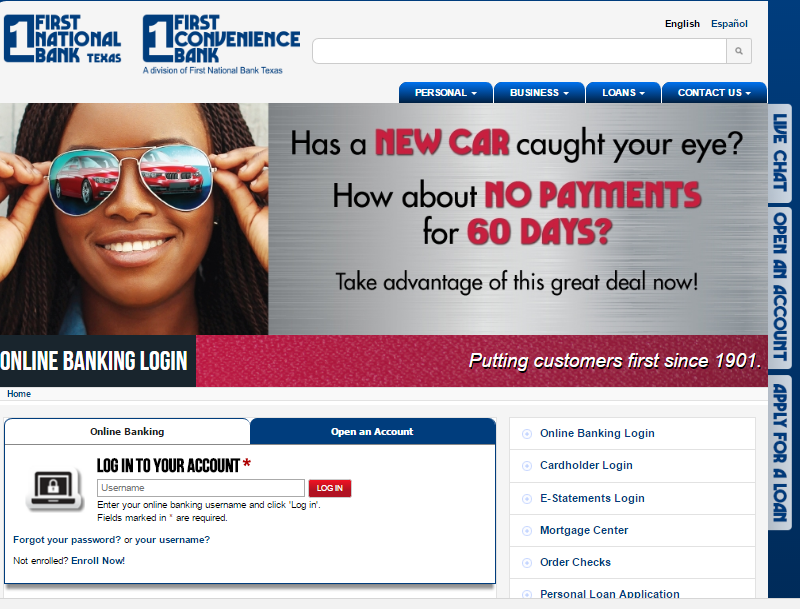 First Convenience Bank Login Banking services, Paying
