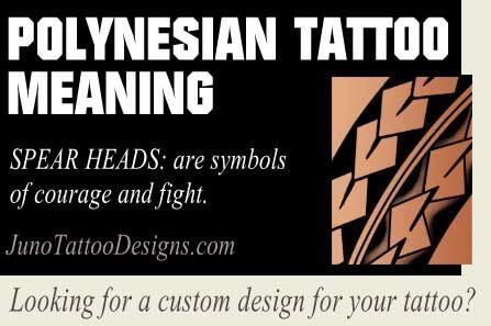 Polynesian Symbol Meaning Spear Heads Juno
