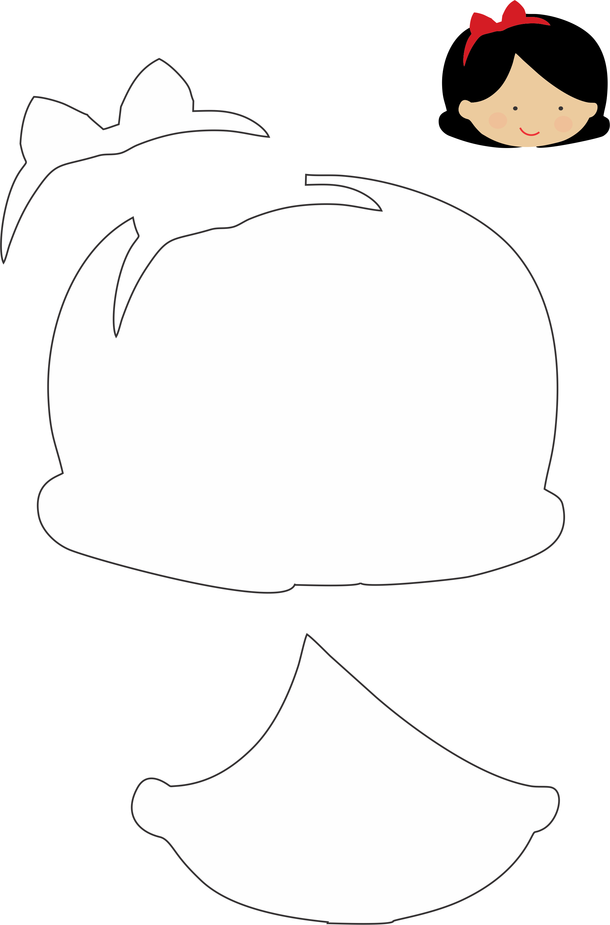 DIY :: Felt - Snow White - Molde Branca de Neve - Feltro #disneyprincess #feltro
