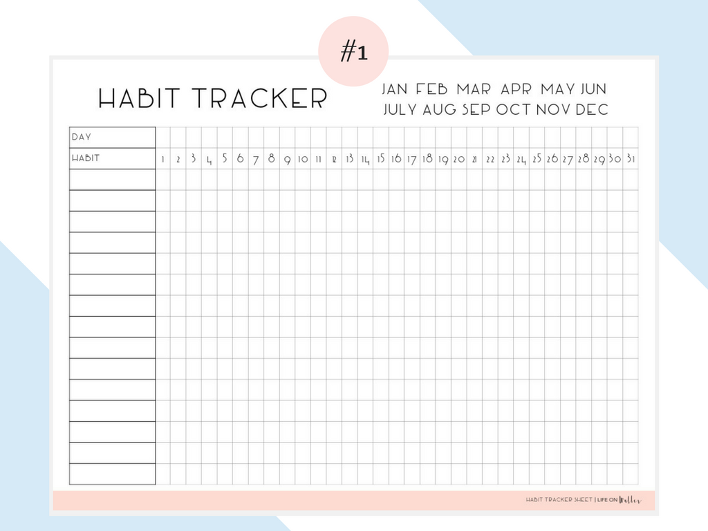 Free Printable Habit Tracker Life On Waller Habit Tracker Printable Habit Tracker Bullet Journal Tracker Free
