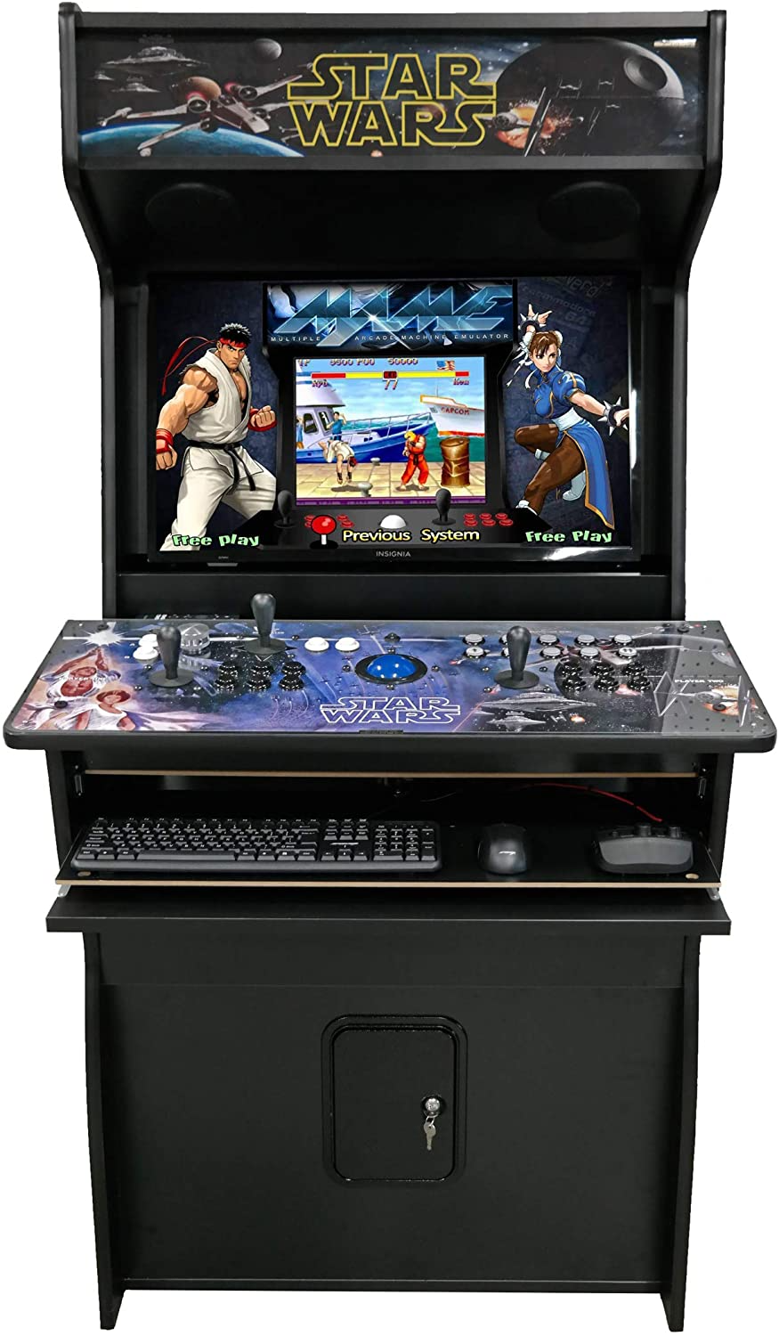 Amazonsmile N2fun Star Wars Mame Hyperspin Full Size Commercial Grade Arcade Game 3 Pro Trackball 32 Smart Tv 12k Games Ready To Play 3 Yr Warrant
