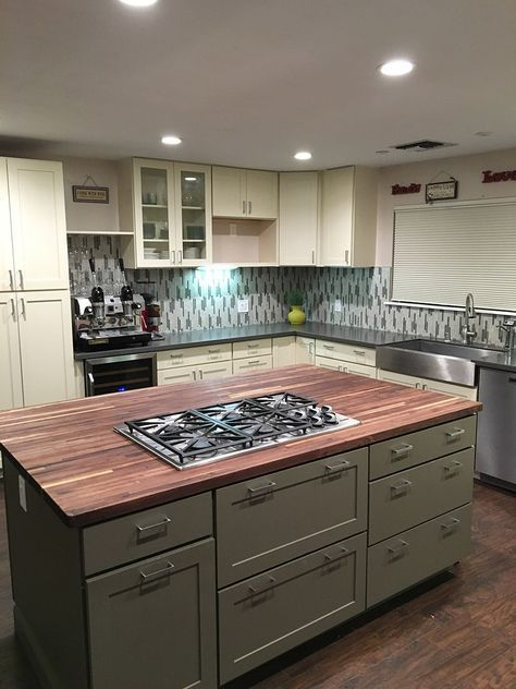 52+ ideas for kitchen island with cooktop stove butcher blocks#blocks #butcher #...#blocksblocks #butcher #cooktop #ideas #island #kitchen #stove
