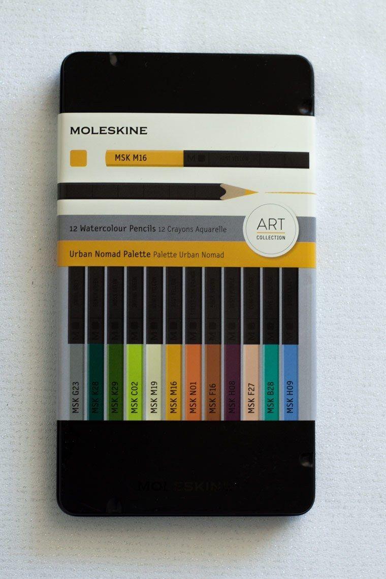 Review Of Moleskine Urban Normad Watercolor Pencils Watercolor