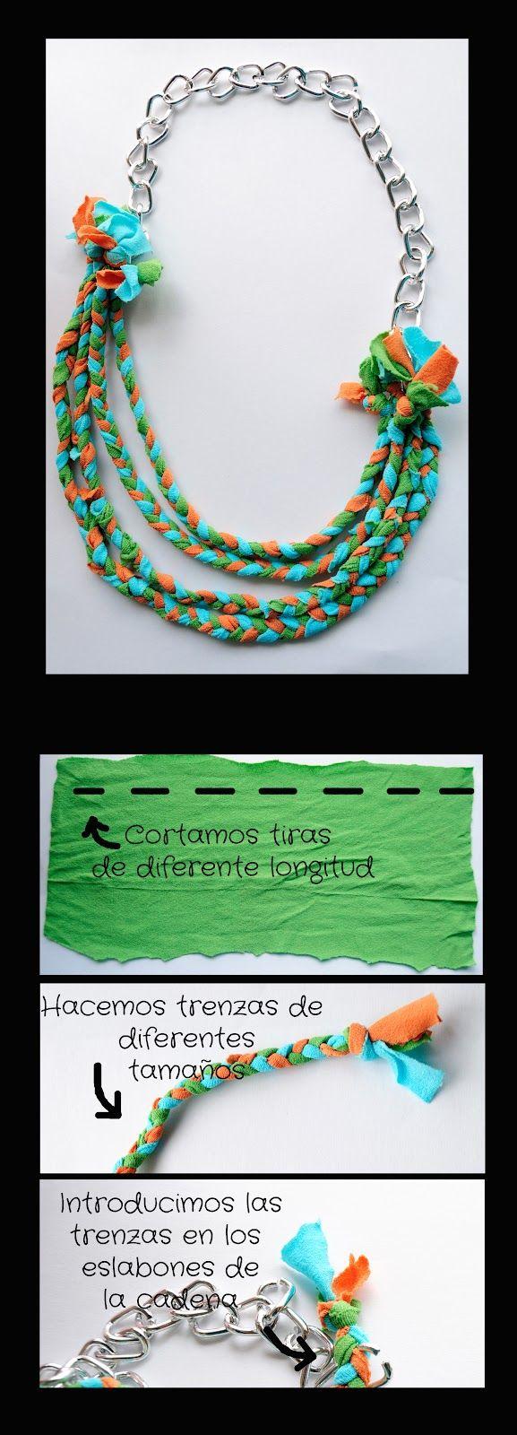 Collar con unas medias de colores | per fer amb nens | Pinterest ...