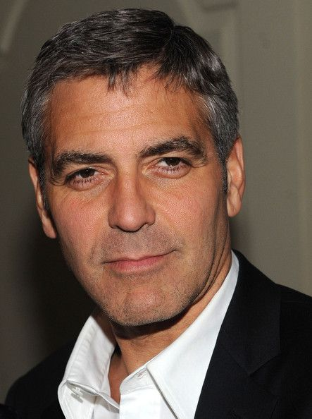 George Clooney Short Side Part George Clooney Hair George Clooney Mens Hairstyles
