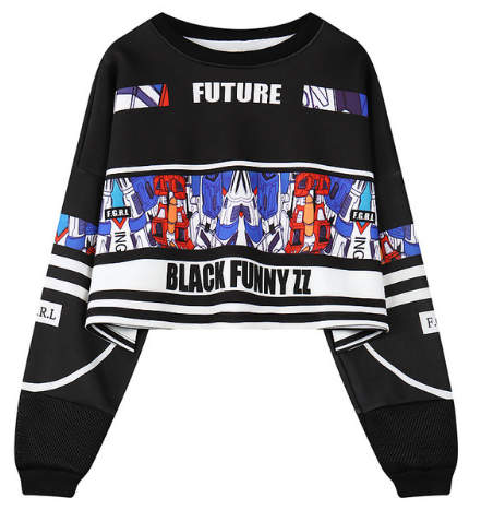 c3152a701 Letter Sexy Crop Top Sweatshirt in 2019 | Clothes | Long sleeve crop ...