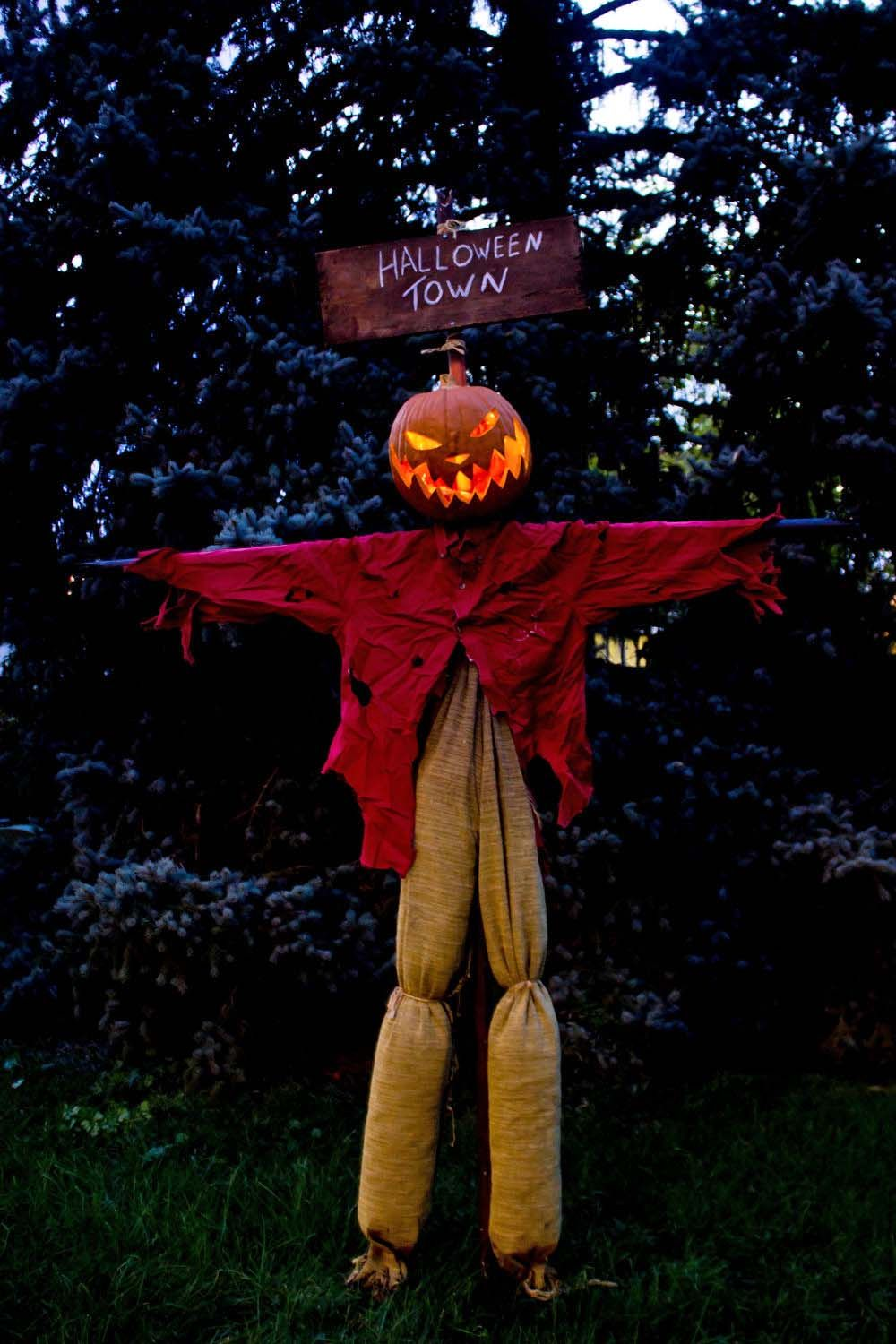 21 Incredibly creepy outdoor decorating ideas for Halloween - front yard halloween decorations