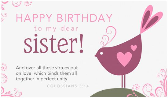 Free Dear Sister eCard eMail Free Personalized Birthday Cards – Funny Sister Birthday Cards