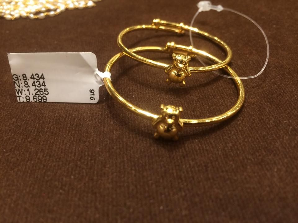Adjustable Gold Baby Bangles Gold Gold Bangles Design