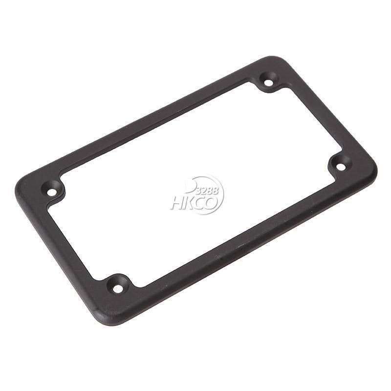 4x7 black standard motorcycle license plate frame for honda kawasaki yamaha - Harley Davidson License Plate Frame For Motorcycle