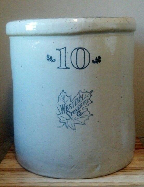 10 Gallon Western Stoneware Co Crock Vintage Stoneware