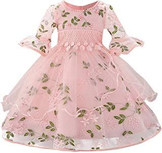 Tronet Girls Dress Infant Floral Baby Girl Princess Bridesmaid Pageant Gown Birthday Party We... #babygirlpartydresses