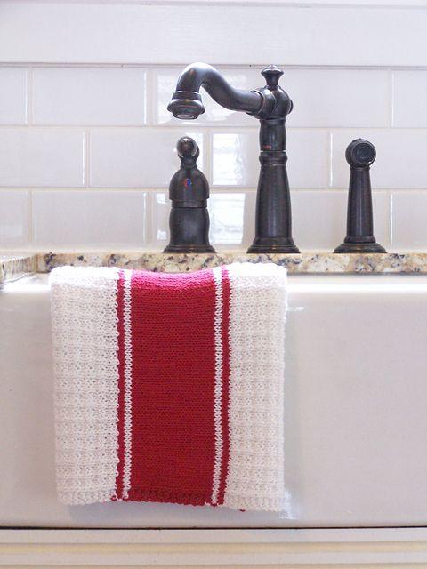 Ravelry: French Stripe Tea Towel pattern by Megan Delorme | Knit wit ...