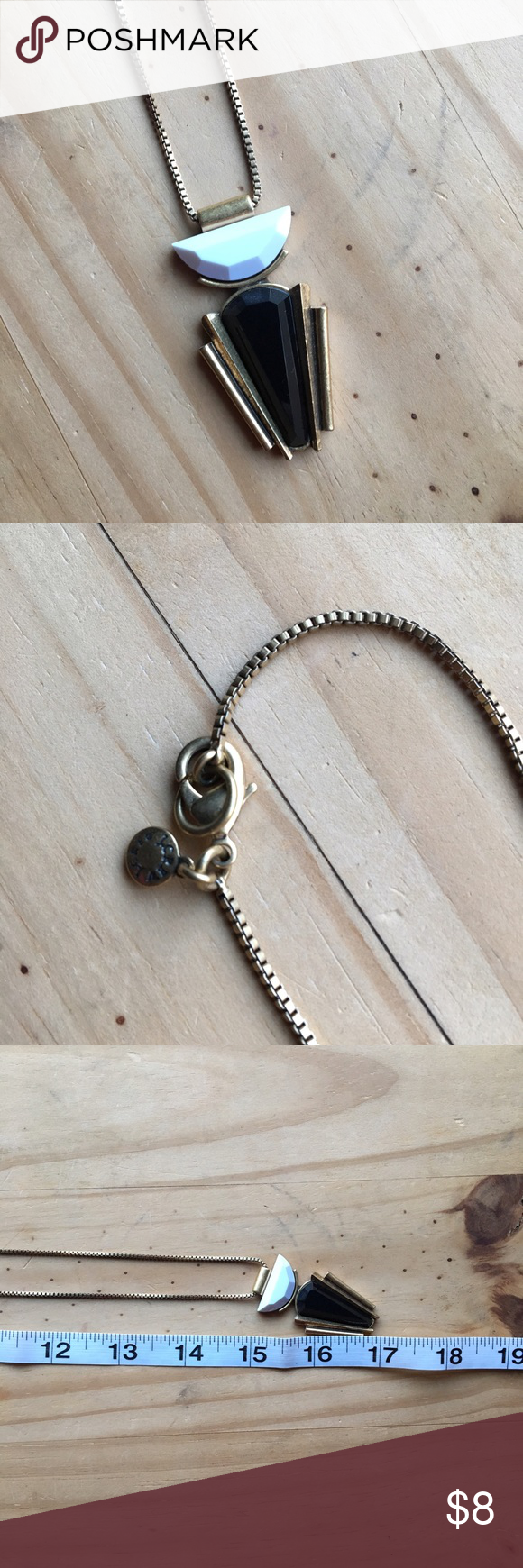J crew necklace chains pendants and gold