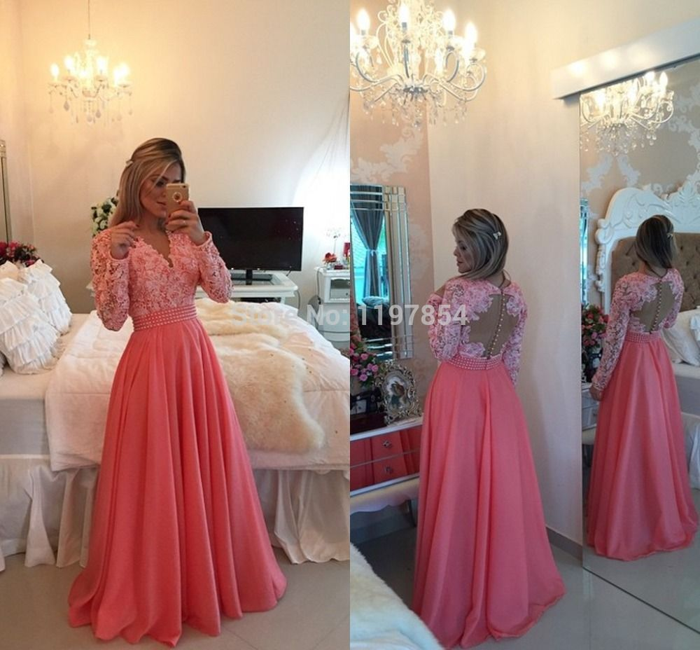 Find More Evening Dresses Information About New Arrival Pink Long