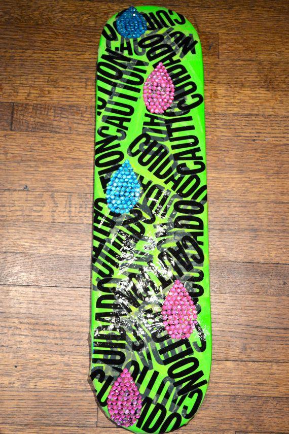 original Skateboard Deck Wall Art by artbyjulieg on Etsy, $50.00 ...