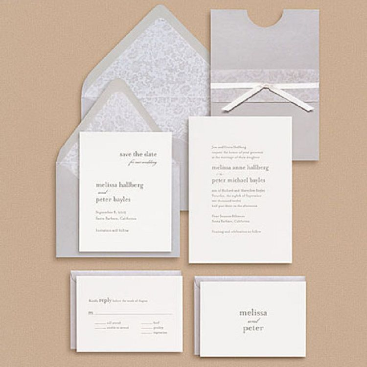 Wedding Invitation Paper Types Invitation Ideas Wedding