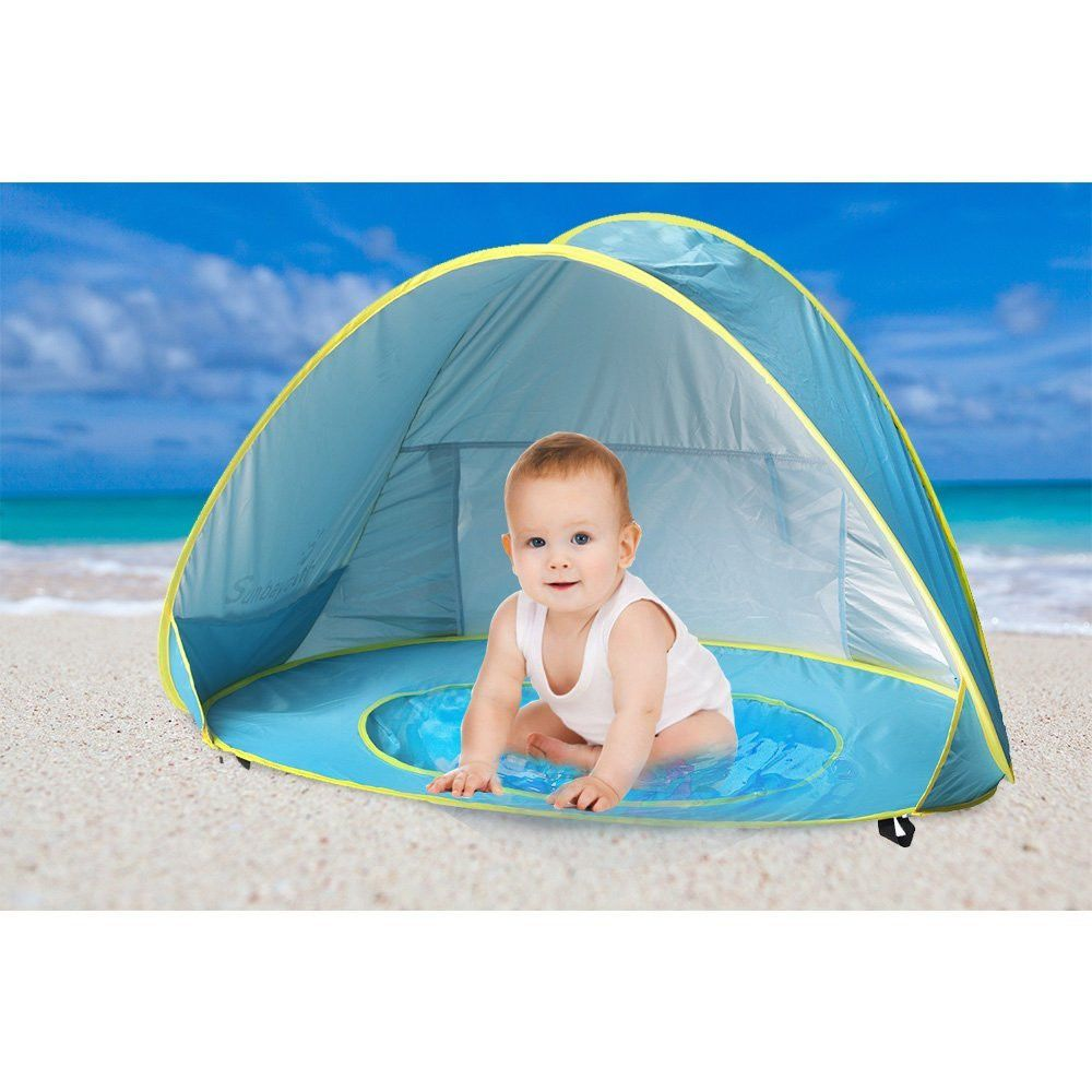 Baby Beach Shade Pool Pop Up Tent Uv Protection Sun Shelter Umbrella Blue Baby Beach Tent Beach Baby Beach Shade