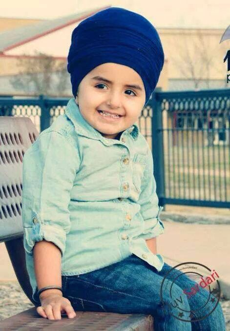 e0f9783c Cute little singh Creative Names, Punjabi Couple, Turban Style, Precious  Children, Happy