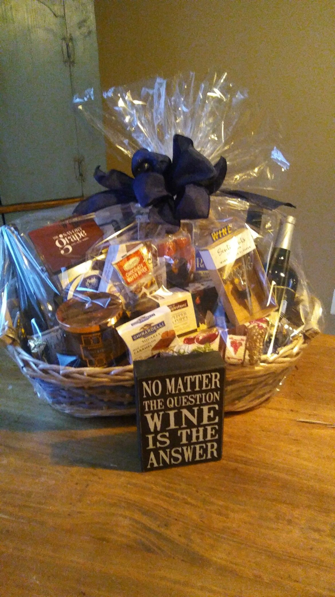 Pin by Sherri Onorato on Made by me Wine baskets, This