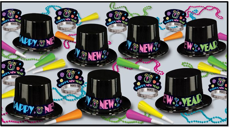 New Years Neon Party Assortment for 25 (With images